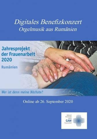 Digitales Benefizkonzert im September 2020